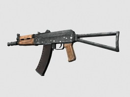 Russian AKS 74U 3d model preview