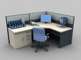Cubicle Office Furniture 3d preview