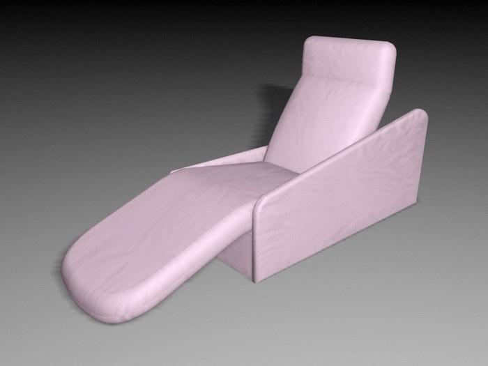 Pink Recliner 3d rendering