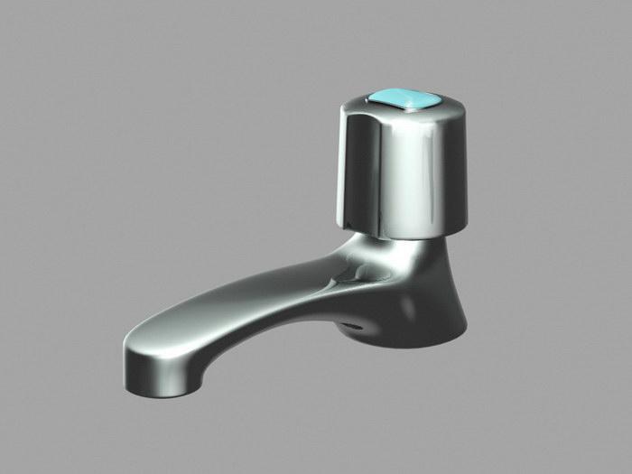 Modern Bath Faucet 3d rendering