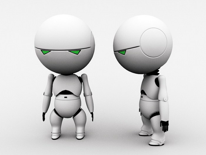 Small Droid 3d rendering