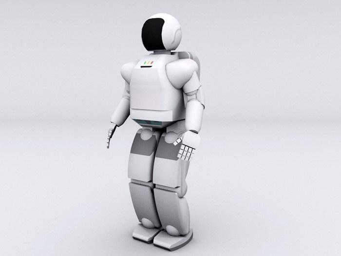 Asimo Humanoid Robot 3d rendering