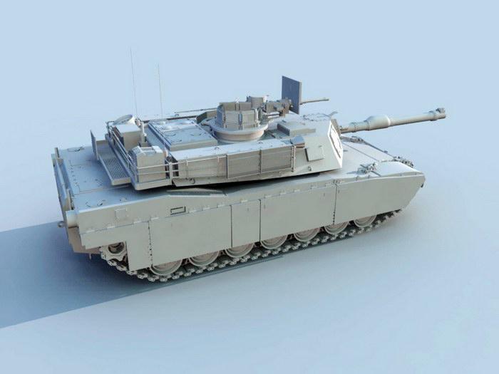 American M1 Tank 3d rendering