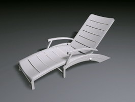White Deckchair 3d preview
