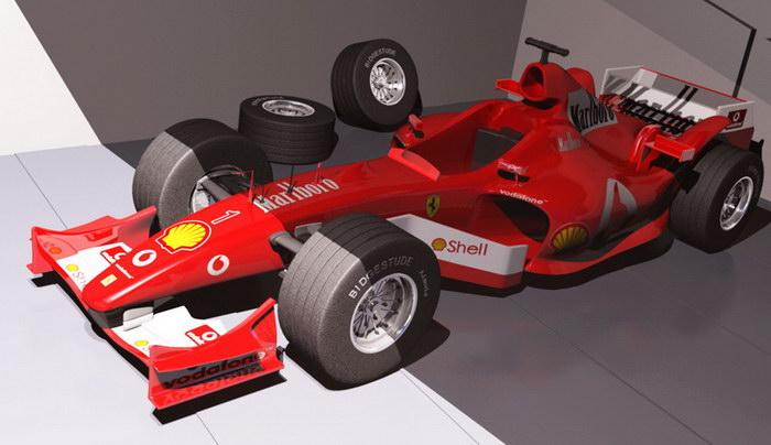 Formula 1 Car 3d rendering