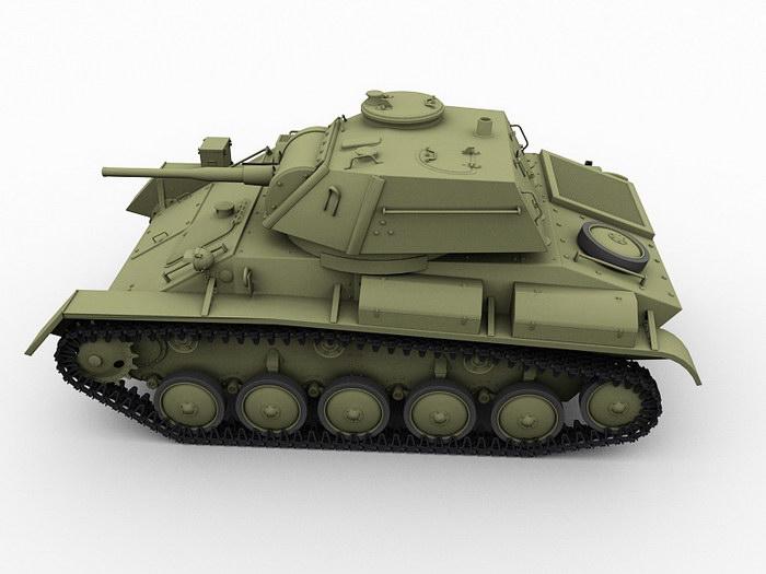 T-80 Soviet Union Tank 3d rendering