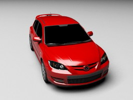 Red Mazda Car 3d preview