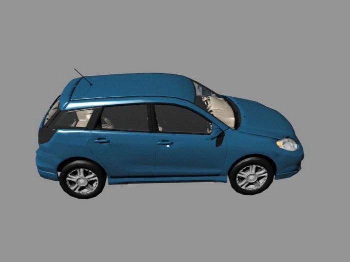 Toyota Corolla Matrix Compact Hatchback 3d rendering
