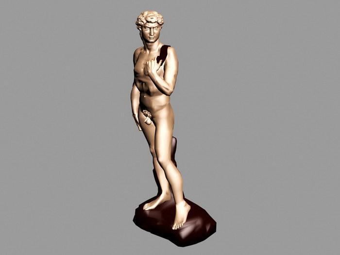 Greek Statue David 3d rendering