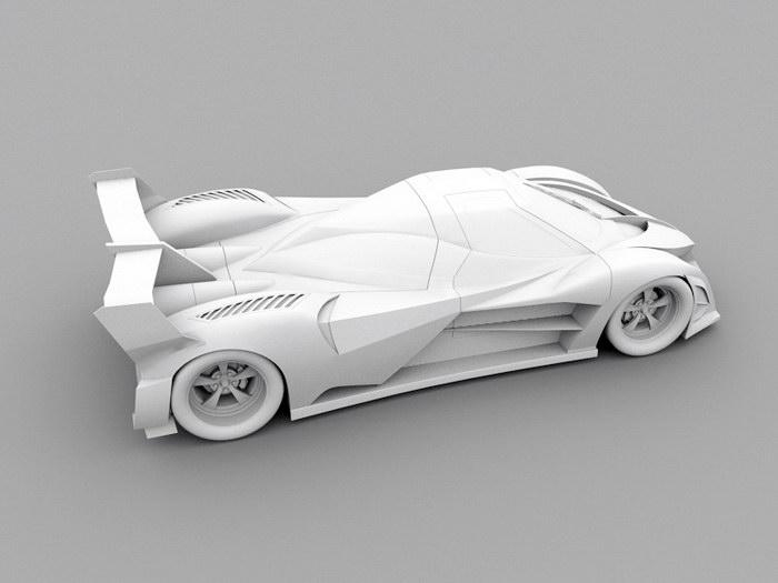 Devel Sixteen Hypercar 3d rendering
