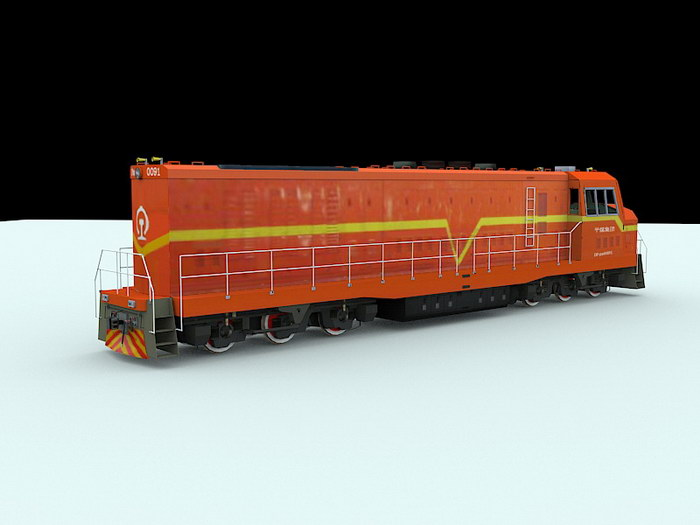 Dongfeng 4 Diesel-electric Locomotive 3d rendering