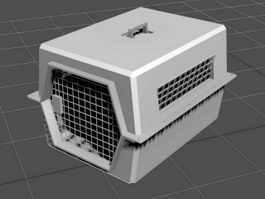 Dog Box Cage 3d preview