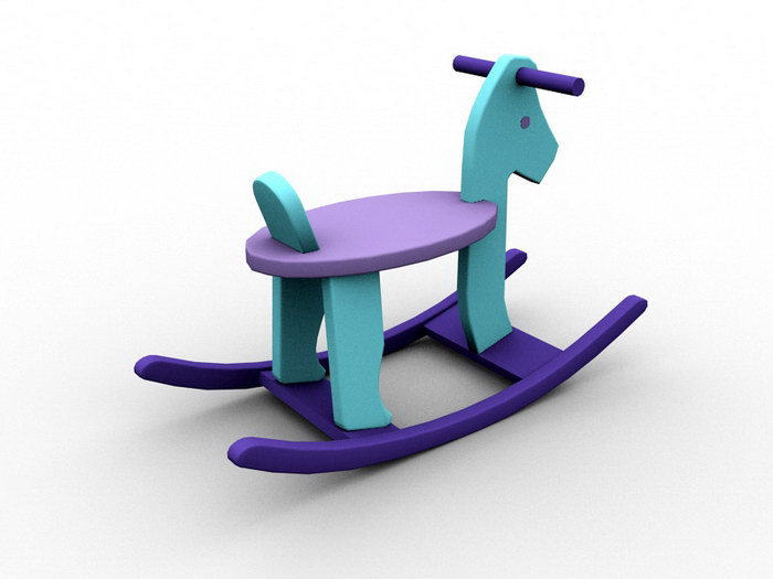 Kids Rocking Horse 3d rendering
