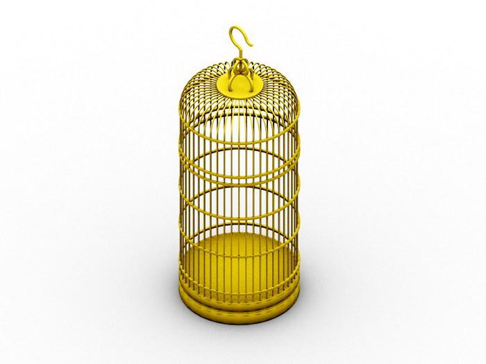 Wire Bird Cage 3d rendering