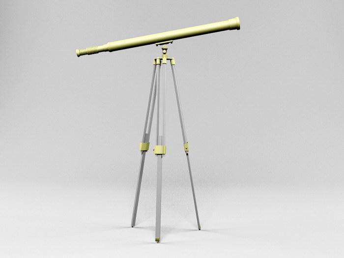 Home Telescope 3d rendering