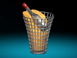 Wine Basket 3d preview