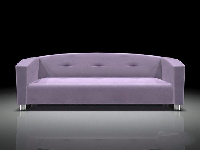 Upholstered Settee Bench 3d rendering