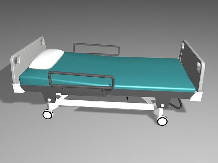 Modern Hospital Bed 3d rendering