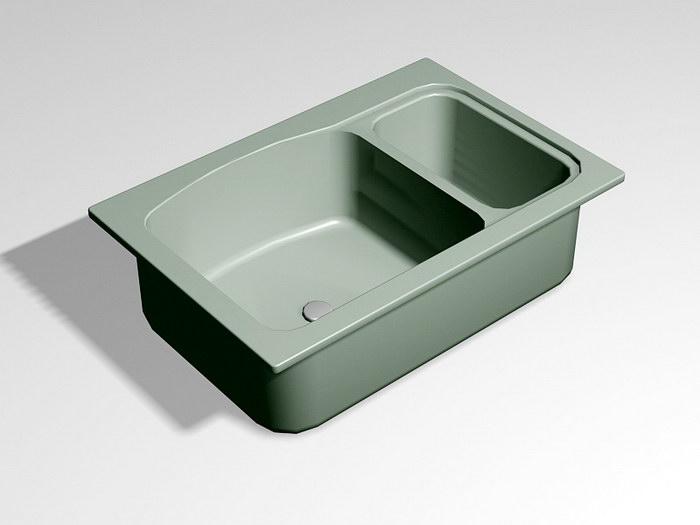 Double Kitchen Sink 3d rendering