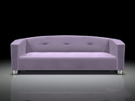 Upholstered Settee Bench 3d preview