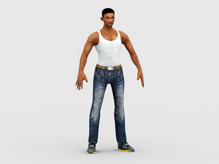I Am Legend Will Smith 3d rendering
