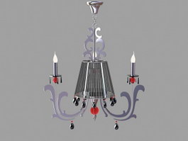 Chrome Chandeliers for Dining Room 3d preview