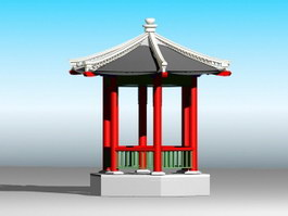 Chinese Gazebo 3d preview