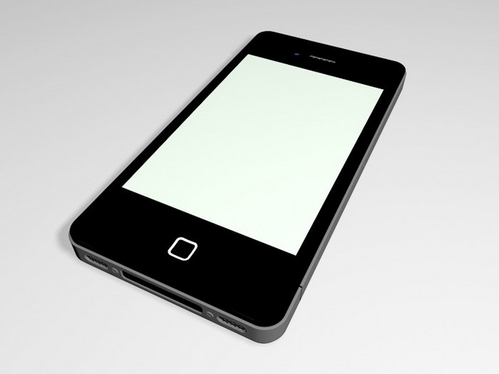 iPhone 4 Black 3d rendering