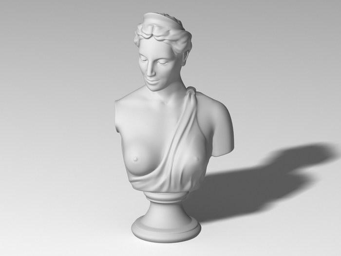 Greek Woman Bust 3d rendering
