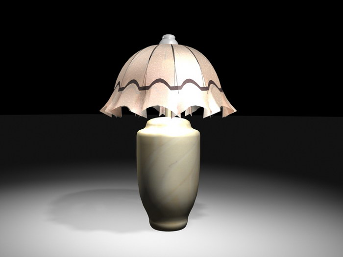 Table Lamp for Bedroom 3d rendering