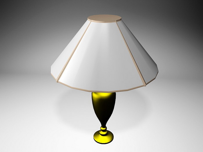 Brass Table Lamp 3d rendering