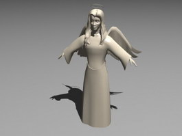 Sad Angel Statue 3d preview
