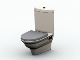 Flush Toilet Bowl 3d preview