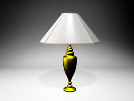 Brass Table Lamp 3d preview
