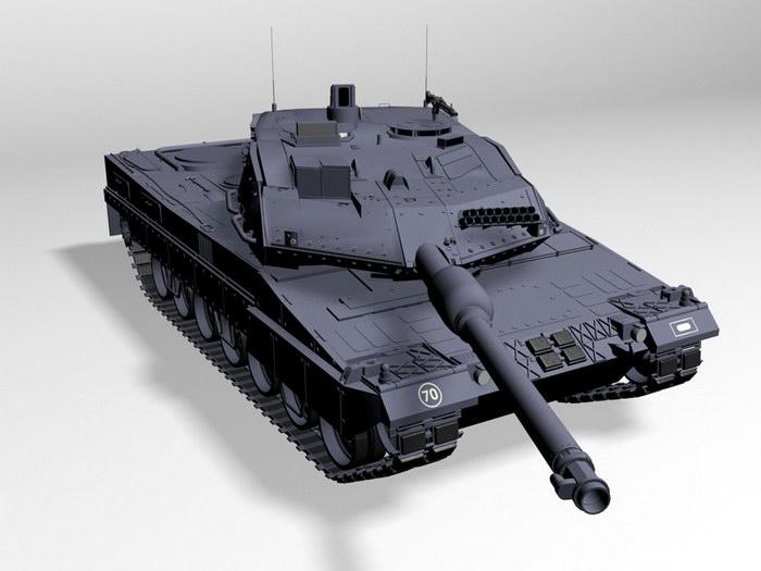 Leopard 2A6M Tank 3d rendering
