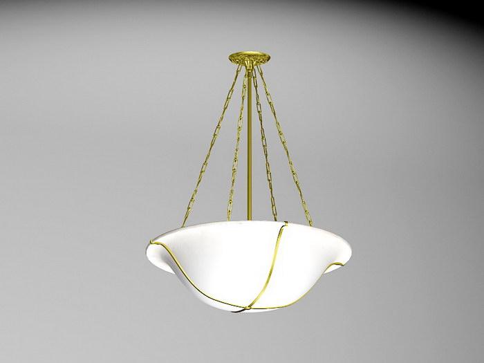 Art Deco Pendant Light 3d rendering