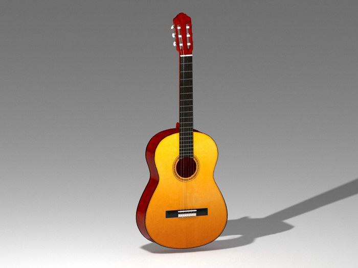 Country Guitar 3d rendering