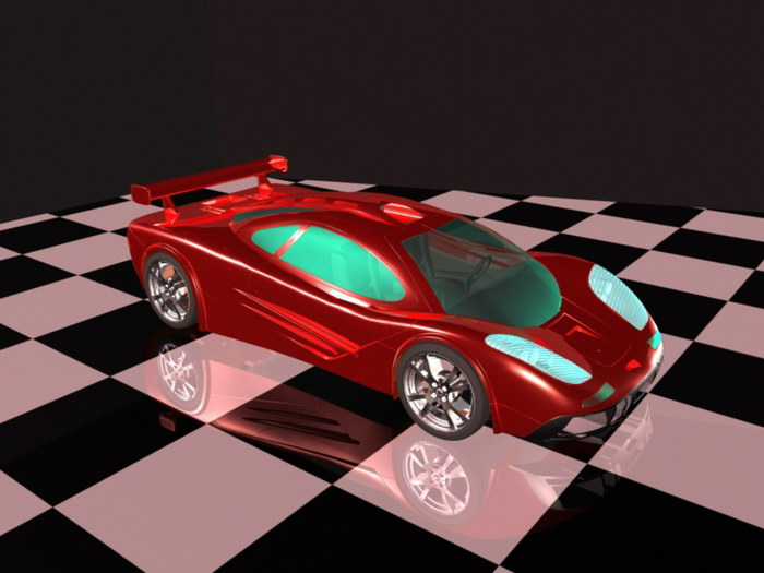 Cool Supercar 3d rendering