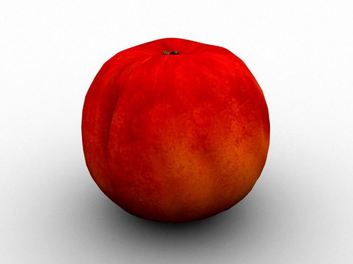 Autumn Red Peach 3d rendering