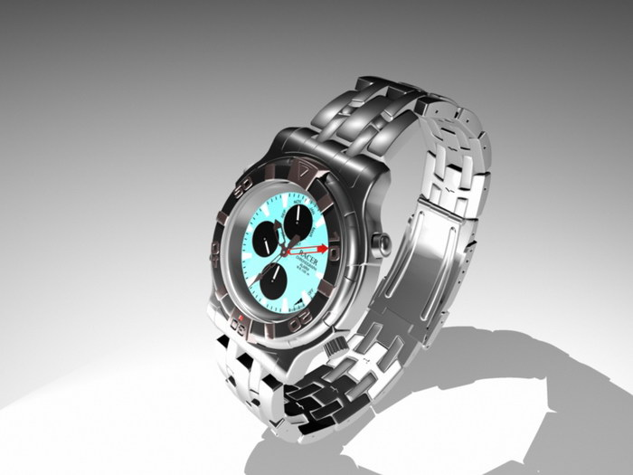 Men's Watch 3d rendering