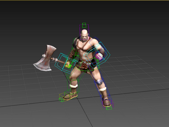 Animated Celtic Barbarian Warrior 3d rendering