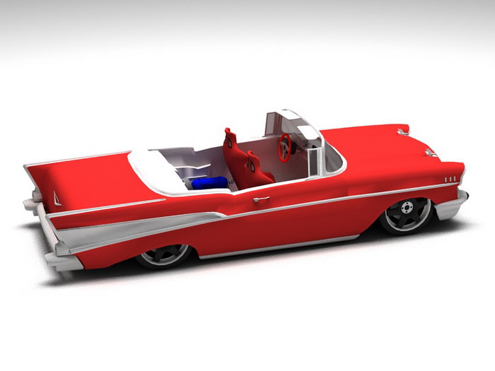 1957 Chevrolet Convertible 3d rendering