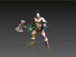 Animated Celtic Barbarian Warrior 3d preview