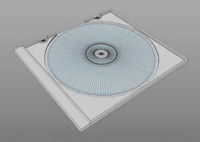 Compact Disc In Case 3d rendering