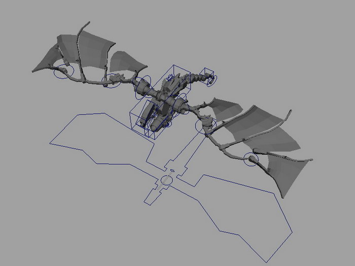 Robot Dragon Rig 3d rendering