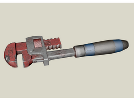 Vintage Pipe Wrench 3d preview