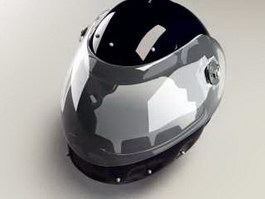 Black Motorcycle Helmet 3d preview