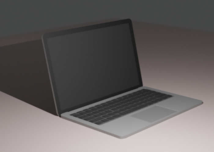 Apple MacBook 3d rendering