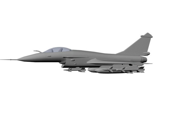 Chinese J10 Fighter Aircraft 3d rendering