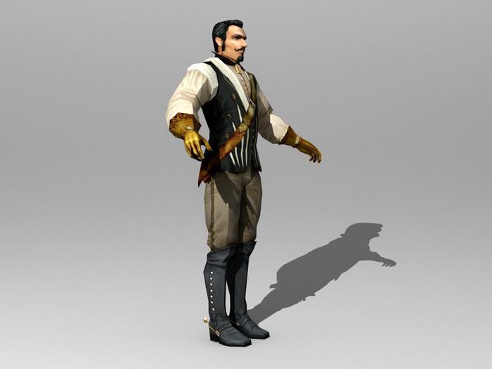 Medieval Nobleman 3d rendering